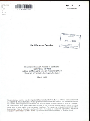 Paul Pancake Exercise