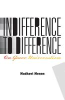 Indifference to Difference PDF