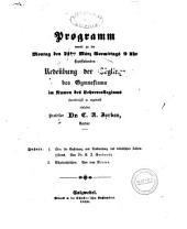 Programm womit zu der ... stattfindenden öffentlichen Redeübung der Zöglinge des Gymnasiums ..: Über die Entstehung und Ausbreitung des dekadischen Zahlensystems. 1853