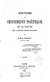 Histoire du sentiment poetic de la Nature