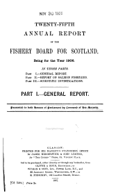 Annual Report of the Fishery Board for Scotland: Volume 25, Part 1906