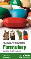 BSAVA Small Animal Formulary  9th Edition  Part B  Exotic Pets PDF