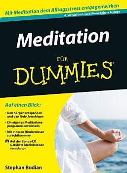 Meditation f  r Dummies PDF