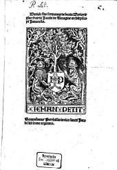 Mariale sive Sermones de beata Maria virgine