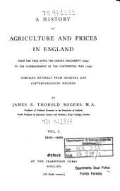 A History of Agriculture and Prices in England: 1259-1400