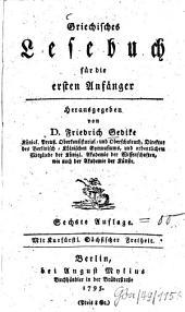 Griechisches Lesebuch für die ersten Anfänger