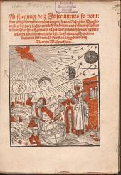 Auslegung deß Instruments so vonn dem hochgelerten und wydberumpten herren Sebastian Münstero über die zwey liechter, nemlich der Sonnen und des Monßleuffen in latinischer sprach gemacht ist