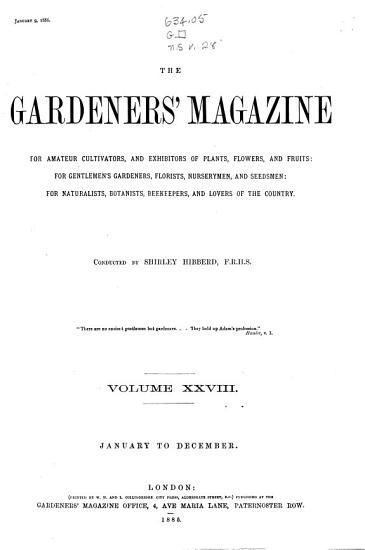 The Gardeners  Magazine PDF