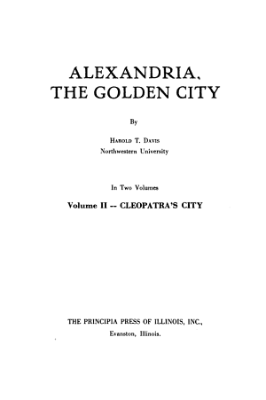 Alexandria  the Golden City  Cleopatra s city PDF