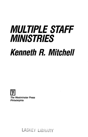 Multiple Staff Ministries PDF
