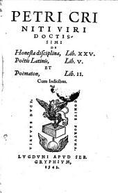 De honesta disciplina lib. XXV, poetis latinis lib V. et poematon libri II