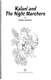 Kalani and the Night Marchers PDF