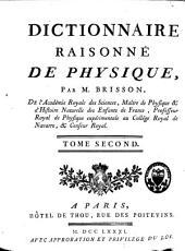 Dictionnaire raisonné de physique,