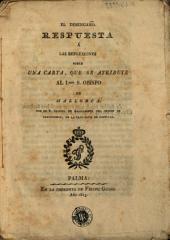 El Desengaño, respuesta á las reflexiones sobre una carta que se atribuye al Ilmo. Obispo de Mallorca