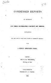 Condensed Reports of Decisions in the Supreme Court of Ohio: Volume 5
