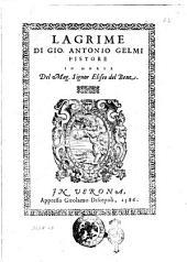 Lagrime di Gio. Antonio Gelmi pistore in morte del mag. signor Eliseo del Bene