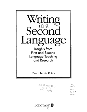 Writing in a Second Language PDF