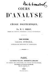 Cours d'analyse de l'Ecole polytechnique: Volume2