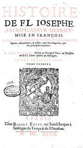 Histoire de Fl. Josephe, sacrificateur hébrieu