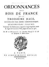 Ordonnances des roys de France de la troisième race: recueillies par ordre chonologique, avec des renvoys des unes aux autres, des sommaires, des observations sur le texte, Volume14