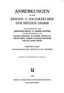 Anmerkungen zu den Kinder  u  hausm  rchen der br  der Grimm  bd  Zur geschichte der m  rchen  IX XIV  Register PDF