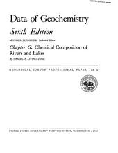 Data of geochemistry