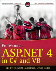 Professional ASP NET 4 in C  and VB PDF