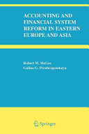 Accounting and Financial System Reform in Eastern Europe and Asia PDF