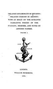 Orlando Innamorato Di Bojardo: Orlando Furioso Di Ariosto, Volume 1