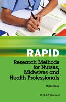 Rapid Research Methods for Nurses  Midwives and Health Professionals PDF