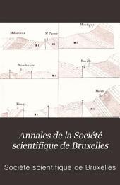 Annales de la Société scientifique de Bruxelles: Volume10