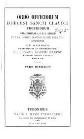 Ordo Officiorum diœcesi Sancti Claudii propriorum