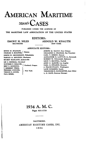 American Maritime Cases
