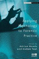 Applying Psychology to Forensic Practice PDF