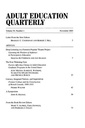 Adult Education Quarterly PDF