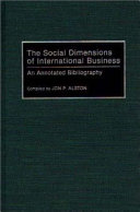 The Social Dimensions of International Business PDF
