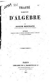 Traite elementaire d'algebre Joseph Bertrand