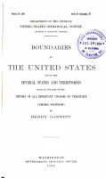 Boundaries of the United States and of the Several States and Territories PDF