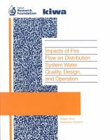 Impacts of Fire Flow on Distribution System Water Quality  Design  and Operation PDF