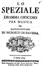 Lo speziale: dramma giocoso per musica