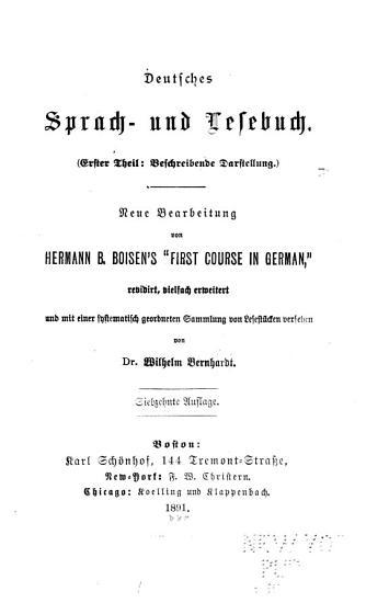 Deutsches sprach  und lesebuch     PDF