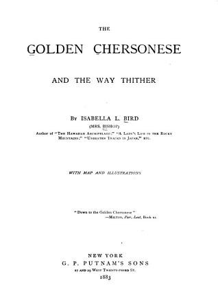 The Golden Chersonese and the Way Thither PDF