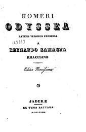 Homeri Odyssea Latinis versibus expressa a Bernardo Zamagna Rhacusino