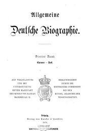 Allgemeine deutsche Biographie: Volume 4
