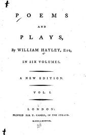 Poems and Plays: Volume 1