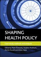 Shaping health policy PDF