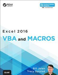 Excel 2016 VBA and Macros  includes Content Update Program  PDF