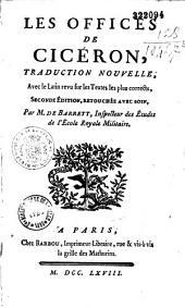 Les Offices de Cicéron, traduction nouvelle...(par Jean-Jacques de Barrett)