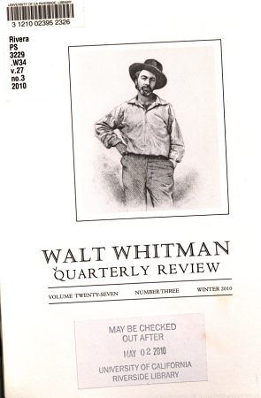 Walt Whitman Quarterly Review PDF