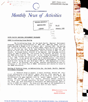 Monthly News of Activities PDF